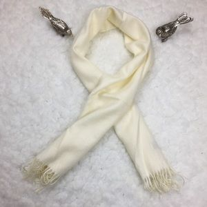 Ivory Royal Rassi 100% Cashmere Scarf 🧣